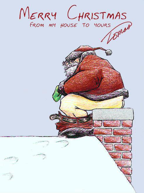 Santa dropping off a special present...