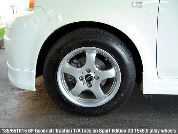 factory tire size? - Scion xB Forum