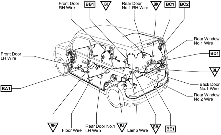 xB_rear_body_wiring_harness01 scion xa wiring diagram scion wiring diagrams instruction scion xa 2005 fuse box diagram at webbmarketing.co